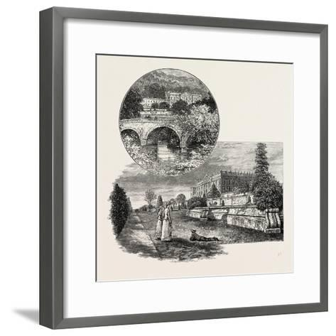 Chatsworth House Is a Stately Home in North Derbyshire--Framed Art Print