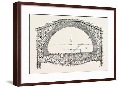 Cable Railway Tunnel under River Near Van Buren Street--Framed Art Print
