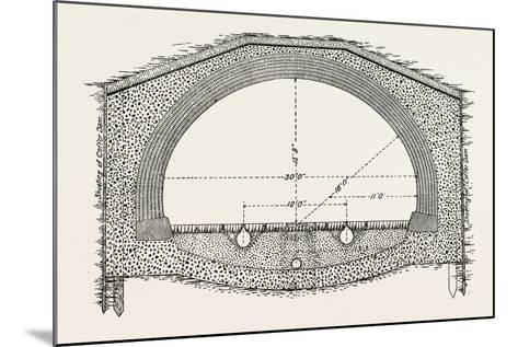 Cable Railway Tunnel under River Near Van Buren Street--Mounted Giclee Print