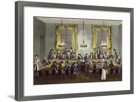 Dick Wildfire Introduced by Captain O'Shuffleton to Rouge Et Noir Table in Palais Royal--Framed Art Print