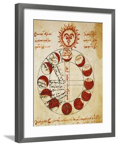 Different Phases of Sun--Framed Art Print