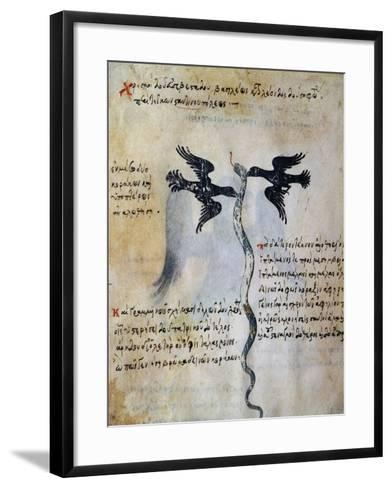 Depiction of Constantinople Between Two Ravens--Framed Art Print