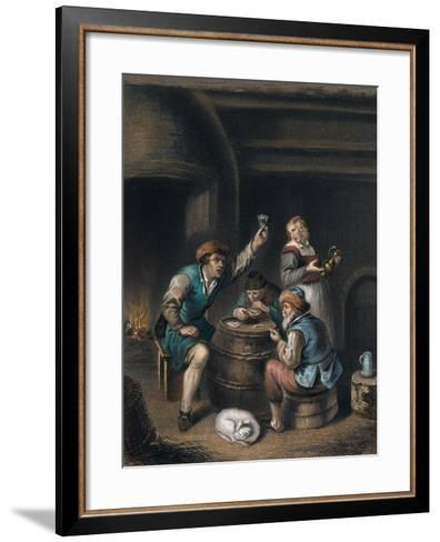 Drinking and Smoking--Framed Art Print