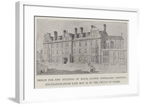 Design for New Building of Royal London Ophthalmic Hospital--Framed Art Print