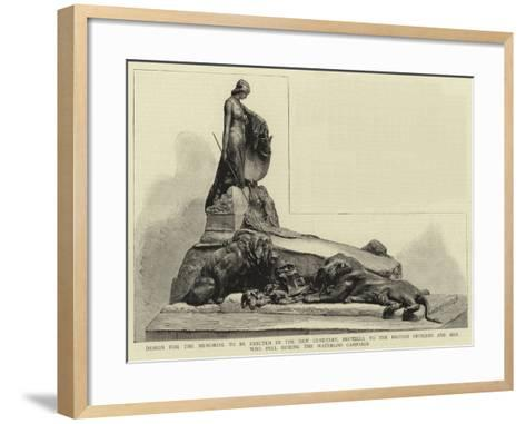 Design for the Memorial to Be Erected in the New Cemetery--Framed Art Print