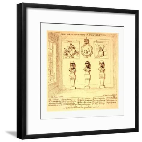 Design for the New Gallery of Busts and Pictures--Framed Art Print