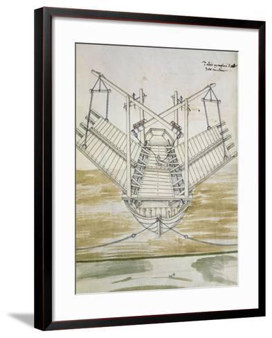 Design for Warship--Framed Art Print