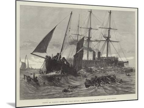 Collision Off Folkestone Between Two German Ironclads--Mounted Giclee Print