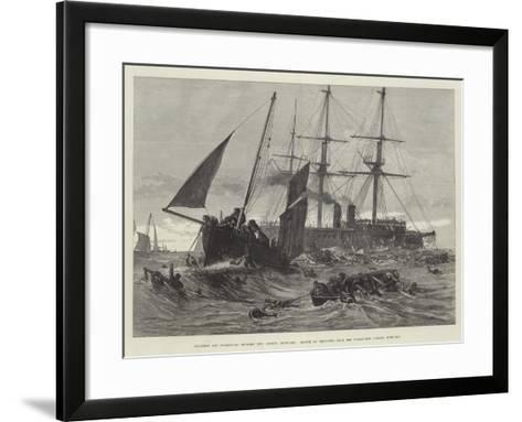 Collision Off Folkestone Between Two German Ironclads--Framed Art Print