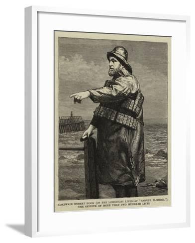 Coxswain Robert Hook (Of the Lowestoft Lifeboat Samuel Plimsoll)--Framed Art Print
