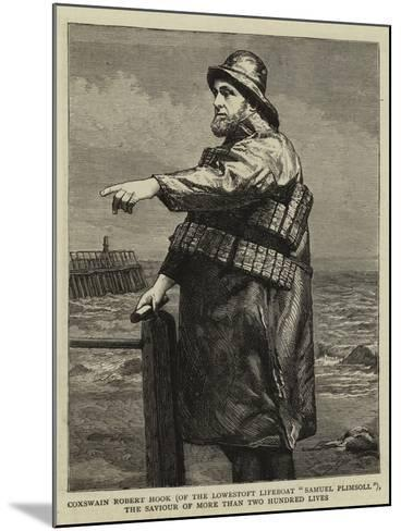 Coxswain Robert Hook (Of the Lowestoft Lifeboat Samuel Plimsoll)--Mounted Giclee Print