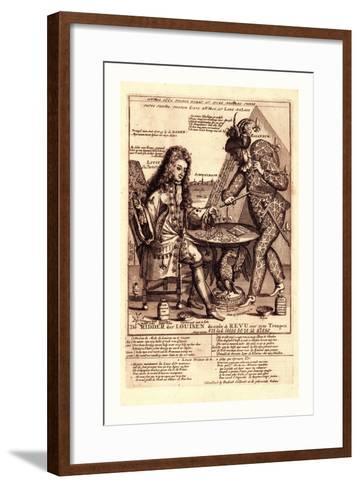 De Ridder Der Louisen Doende De Revu over Zyne Troupen--Framed Art Print
