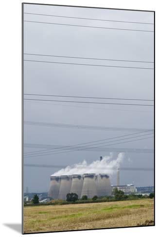 Cooling Towers and Overhead Power Lines in Rural Landscape--Mounted Photographic Print