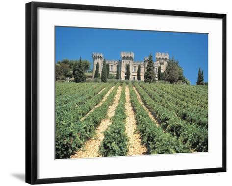 Crop in Front of a Castle--Framed Art Print