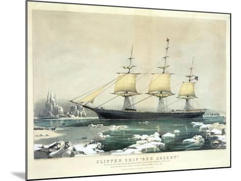 Clipper Ship 'Red Jacket' in the Ice Off Cape Horn--Mounted Giclee Print