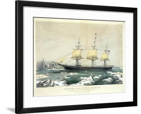 Clipper Ship 'Red Jacket' in the Ice Off Cape Horn--Framed Art Print