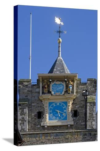 Clock (1561-1562) on Front of Parish Church of St Mary the Virgin (12th Century)--Stretched Canvas Print