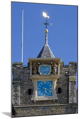 Clock (1561-1562) on Front of Parish Church of St Mary the Virgin (12th Century)--Mounted Photographic Print