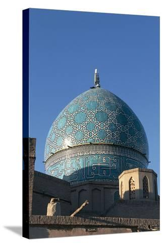 Dome of the Mausoleum of Shah Nematollah Vali (1330-1431)--Stretched Canvas Print