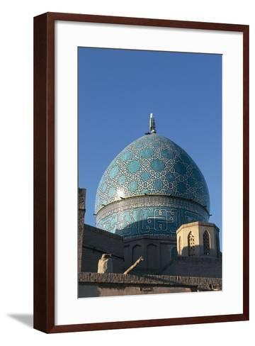 Dome of the Mausoleum of Shah Nematollah Vali (1330-1431)--Framed Art Print