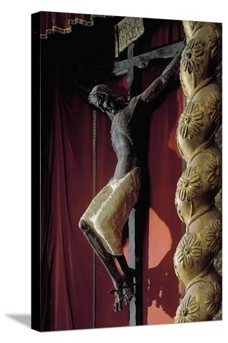 Crucifix from Catalan School--Stretched Canvas Print