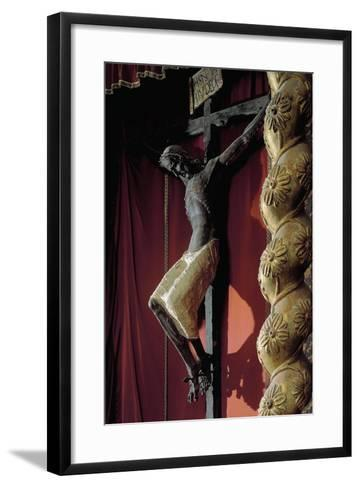 Crucifix from Catalan School--Framed Art Print