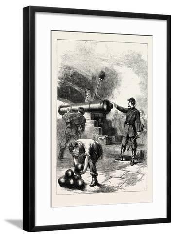Defence of Fort Sumter--Framed Art Print