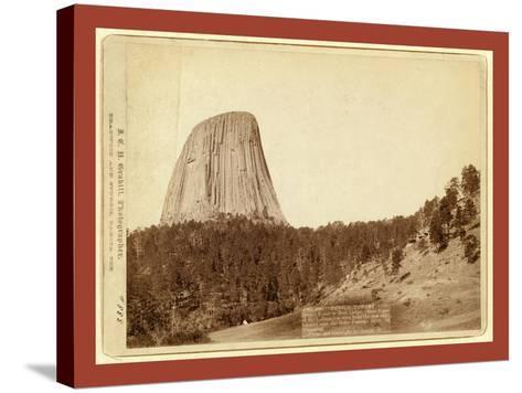 Devil's Tower. Devil's Tower or Bear Lodge. (Mato [I.E. Mateo] Tepee of the Indians)--Stretched Canvas Print