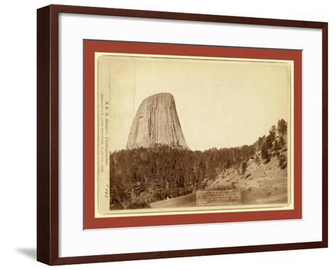 Devil's Tower. Devil's Tower or Bear Lodge. (Mato [I.E. Mateo] Tepee of the Indians)--Framed Art Print