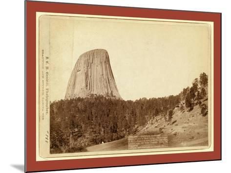 Devil's Tower. Devil's Tower or Bear Lodge. (Mato [I.E. Mateo] Tepee of the Indians)--Mounted Giclee Print