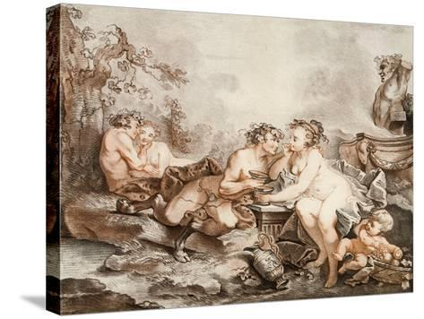Fauns and Nymphs--Stretched Canvas Print