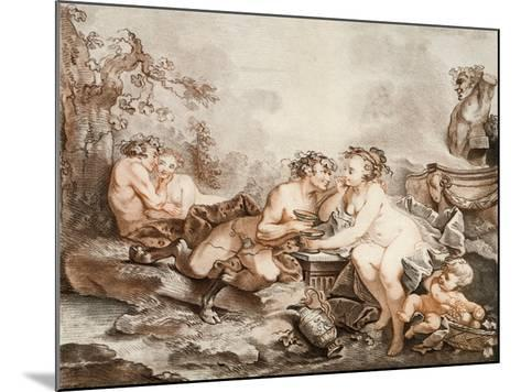 Fauns and Nymphs--Mounted Giclee Print