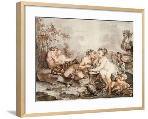 Fauns and Nymphs--Framed Art Print