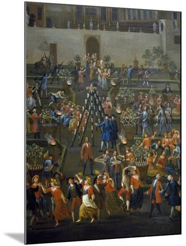 Feast for Return of Mozzatore in Garden of Palazzo Rospigliosi at Esquiline--Mounted Giclee Print