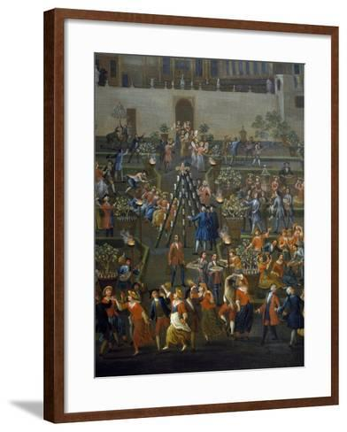 Feast for Return of Mozzatore in Garden of Palazzo Rospigliosi at Esquiline--Framed Art Print