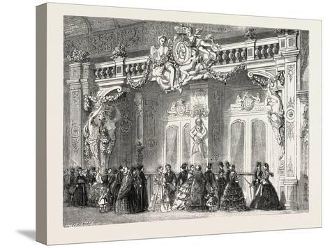 Entrance to the Lounge of the Empress at the Palace of Industry. Paris--Stretched Canvas Print