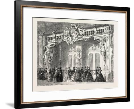 Entrance to the Lounge of the Empress at the Palace of Industry. Paris--Framed Art Print