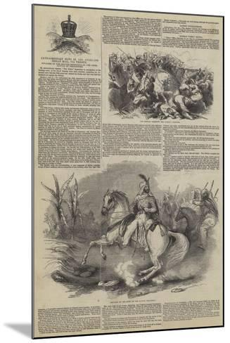 Extraordinary News by the Overland Indian Mail--Mounted Giclee Print