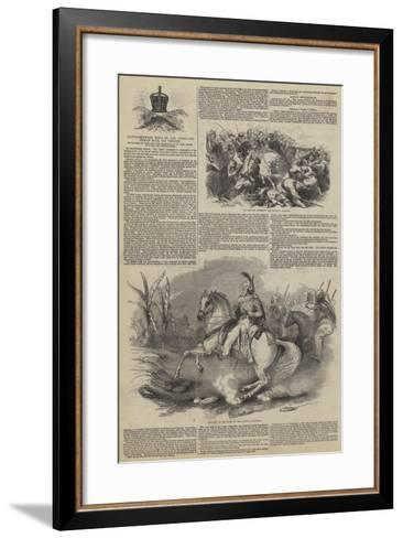 Extraordinary News by the Overland Indian Mail--Framed Art Print