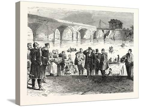 Franco-Prussian War: Jules Favre Lands During the First Week of the Armistice at the Bridge of Sevr--Stretched Canvas Print