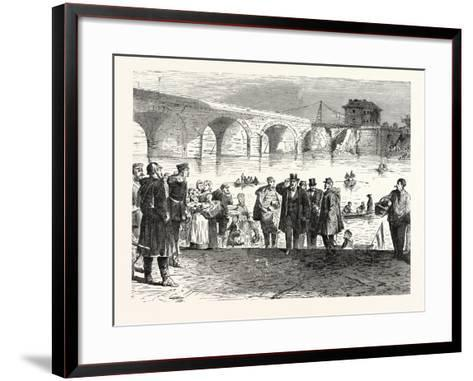 Franco-Prussian War: Jules Favre Lands During the First Week of the Armistice at the Bridge of Sevr--Framed Art Print