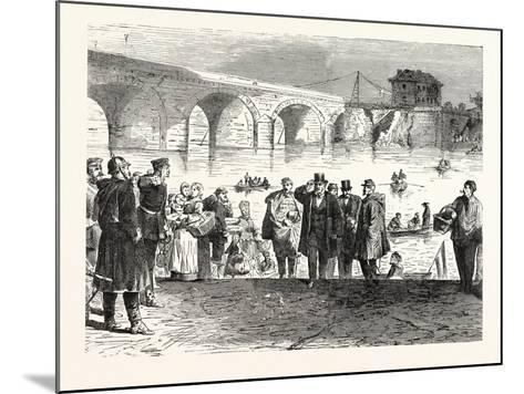 Franco-Prussian War: Jules Favre Lands During the First Week of the Armistice at the Bridge of Sevr--Mounted Giclee Print