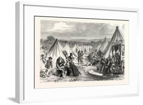 Franco-Prussian War: Maahon Captured Camp at Reichshofen Will Be Set Up as Hospital for Wounded Mil--Framed Art Print