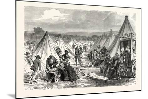 Franco-Prussian War: Maahon Captured Camp at Reichshofen Will Be Set Up as Hospital for Wounded Mil--Mounted Giclee Print