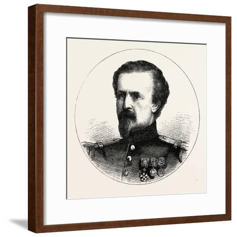 Franco-Prussian War: Pierre Philippe Marie Aristide Denfert-Rochereau--Framed Art Print