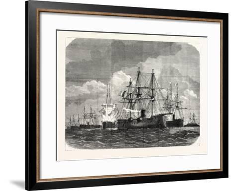 Franco-Prussian War: Blockade of the Baltic Sea--Framed Art Print
