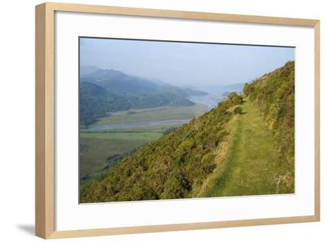 Footpath Skirting Steep Mountain Slope--Framed Art Print