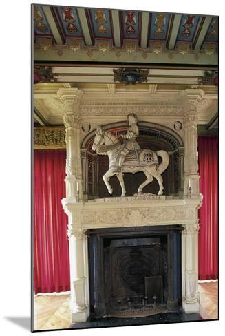 Fireplace with Statue of Jehan III of Estourmel--Mounted Photographic Print