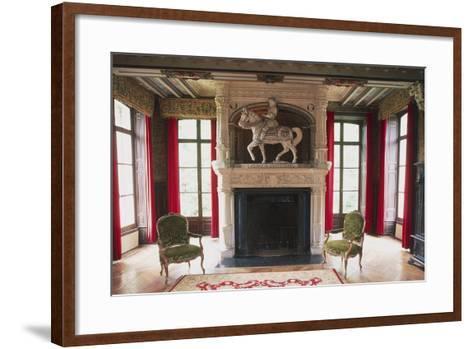 Fireplace with Statue of Jehan III of Estourmel--Framed Art Print