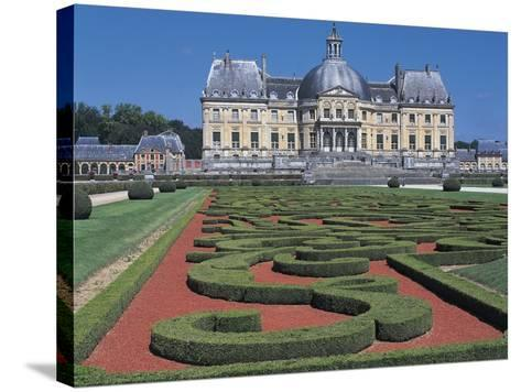 Formal Garden in Front of a Castle--Stretched Canvas Print